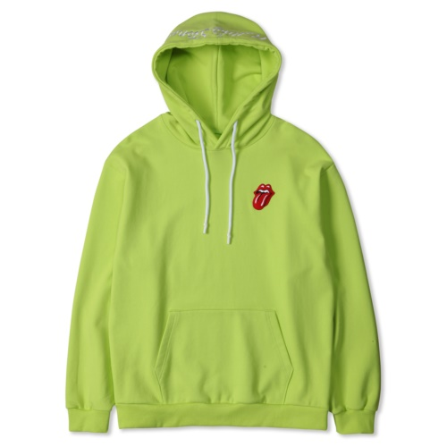 THE ROLLING STONES CLASSIC TONGUE COLOR HOODIE YELLOW (NEON)