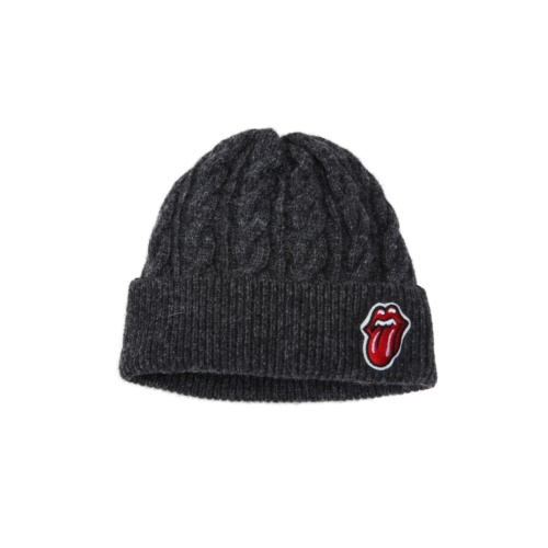 THE ROLLING STONES CLASSIC TONGUE WATCH CAP CHARCOAL