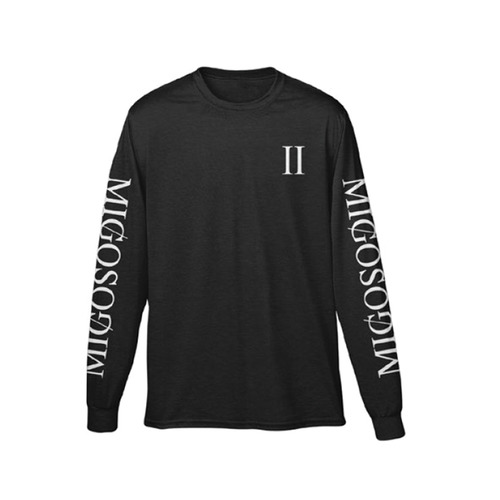 [Migos] CULTURE COLUMNS LONG SLEEVE BLACK