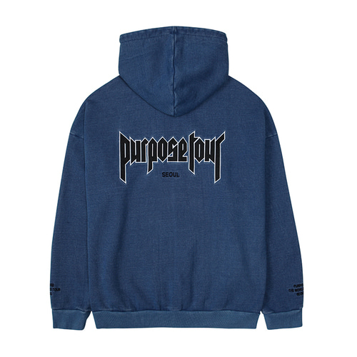 PURPOSE TOUR STAFF HOODIE DENIM